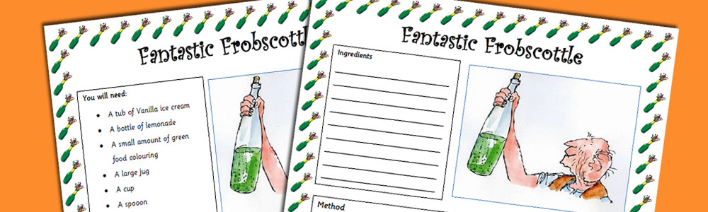 BFG Fantastic Frobscottle Recipe Worksheet