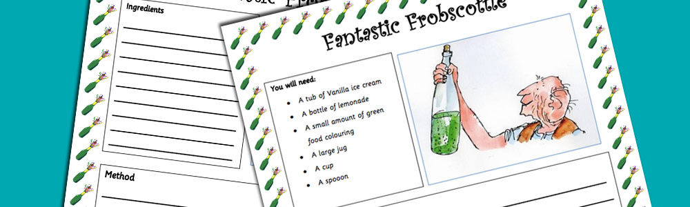 The BFG Fantastic Frobscottle Recipe Worksheet
