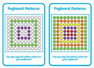 Twinkl Resource Pattern Pegboards