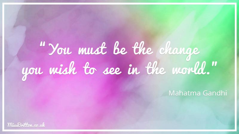Mahatma Ghandi Classroom Quote
