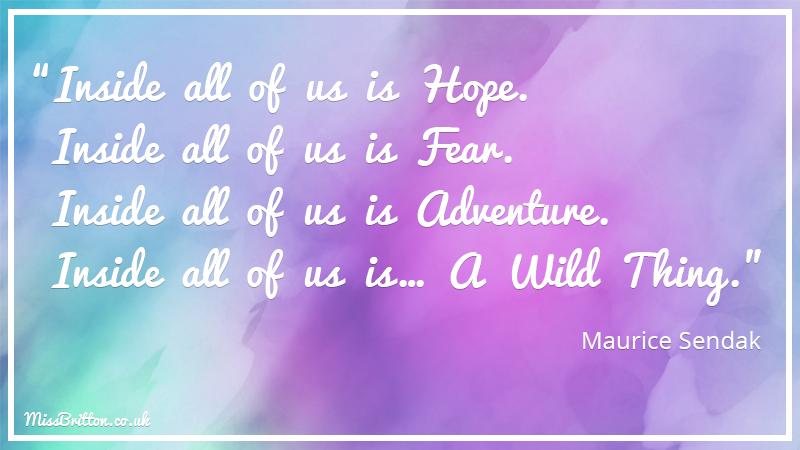 Maurice Sendak Classroom Literary Quote