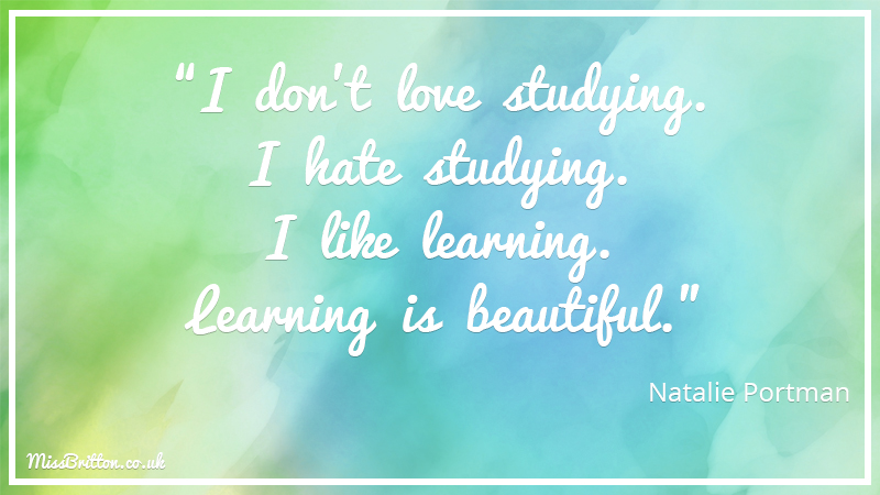 Natalie Portman Classroom Quote