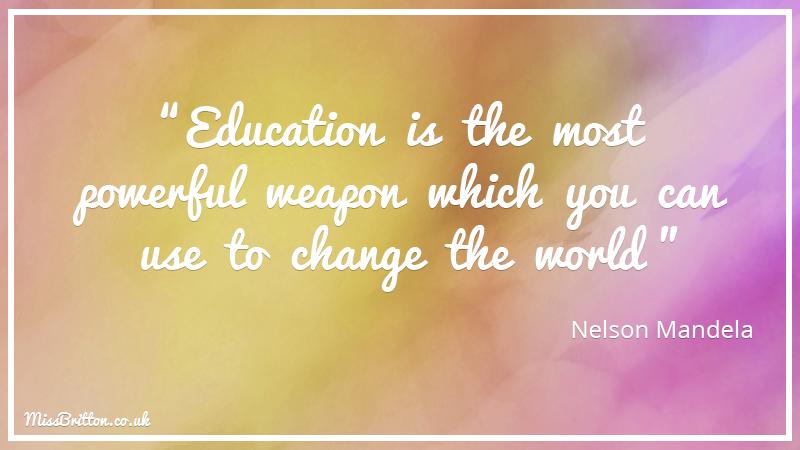 Nelson Mandela Classroom Quote