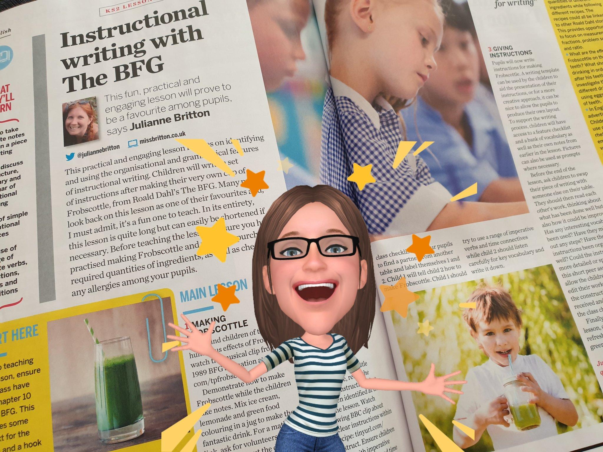 miss britton bfg teach primary magazine frobscottle instructions