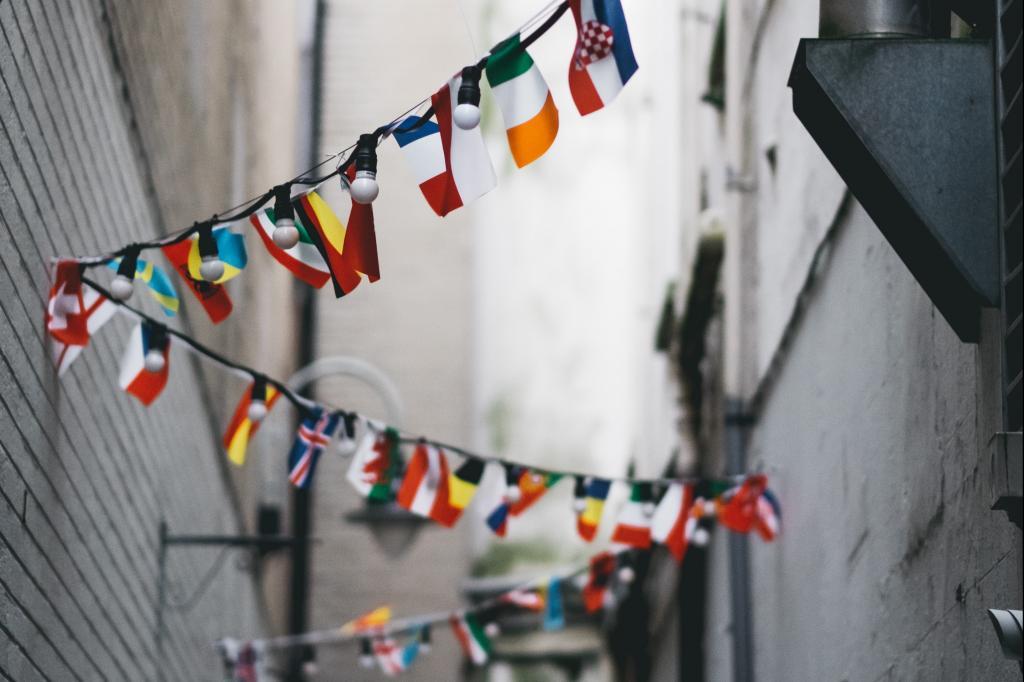 flag bunting street
